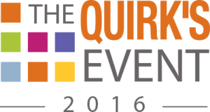 Logo for 2016 Quirk's Event Conference